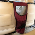 FOREYY Vehicle Pet Barrier with Mesh Openings, Storage Compartments and Durable Material-Red