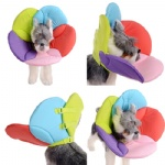 FOREYY Flower Pattern Recovery Pet Cone E-Collar for Cats and Small Dogs
